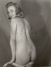 Original Vintage 1940s-60s Nude Photo- Semi Blond Takes Off Panties- Shows Butt