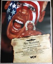 WCW Great American Bash 1990 Poster 16x20 Sting WWE WWF