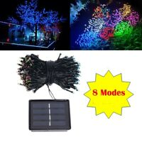 Solar Powered 100 200 300 LEDs String Fairy Tree Light Outdoor Wedding Party Xma