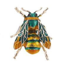 Vintage Enamel Bee Brooch Pin Shirt Animal Metal Pin Clothing Accessories YJ