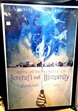 2017 DARTMOUTH WINTER CARNIVAL POSTER, ORIGINAL, BOUGHT DIRECTLY FROM COLLEGE