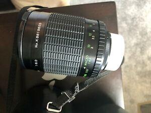 Kalimar 500mm f8 mirror lens Nikon F mount Black with case + filters K8819855