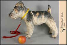 black forest carved wood dog  schnauzer carved hound wood carving