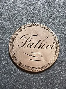 1875 Twenty Cent U.S. Silver Love Token Scarce.