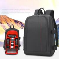 Camera Laptop Backpack Rucksack Photo Bag Case Waterproof For Canon Nikon DSLR