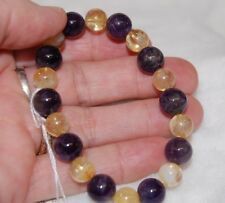 Charged Amethyst & Citrine Bracelet Stretches ~ Healing ~ Grounding~ Abundance