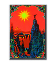 GARDEN OF EDEN - BLACKLIGHT POSTER - 23x34 FLOCKED TRIPPY 52082