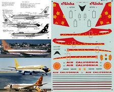 MICROSCALE DECALS 1/144 Boeing 737 (Air California/Aloha Airlines)