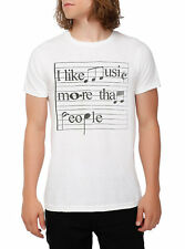 NEW I Like Music More Than People Mens T-shirt Size Small