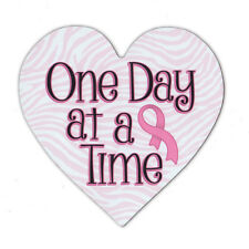 Magnetic Bumper Sticker - Breast Cancer Support Heart Magnet - Awareness