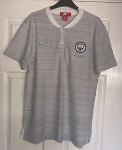 Manchester City Nike Mens Grey Short Sleeve T-shirt Size Large New Genuine!