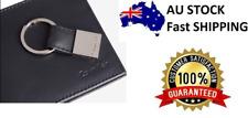 Mens Calvin Klein Black Genuine Leather Bookfold Wallet & Key Fob Boxed Gift Set