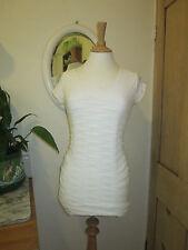 MARITHE FRANCOIS GIRBAUD chemisier haut tunique en coton blanc cravatatkiller