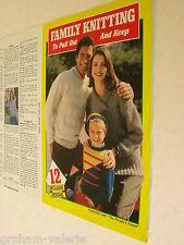 Knitting Pattern Family Knitting 12 designs Men's, Ladies & Children
