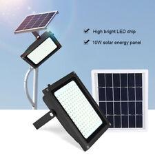 150 LED Solarleuchte Solarlampe Strahler Flutlicht + Solar Panel Bewegungsmelder