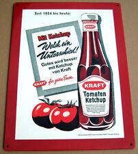 Kraft Ketchup Flasche Tomate Blechschild 40x30cm Schild Tomaten Werbung 2008 2