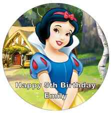 """Disney Princess Snow White Personalised Cake Topper 7.5"""" Edible Wafer Paper"""