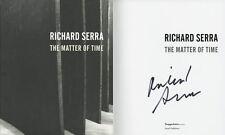 Richard Serra SIGNED AUTOGRAPHED The Matter of Time HC 1st Ed/1st Guggenheim Art