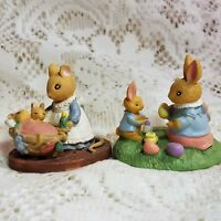Avon Forest Friends Figurines Mice Bunny Rabbits Easter Fun All Tucked In Qty 2