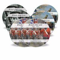British Army Lists 315 Books on6 DVDs 1661-1946 World War 1 2 WW1 WW2 History 66