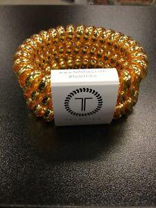Teleties 3 Pack Large Hair Ties Sunset Gold Ponytail Holder Bracelets