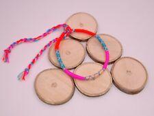 Bracelet Brésilien Amitié coton macramé Bonheur orange rose fille femme