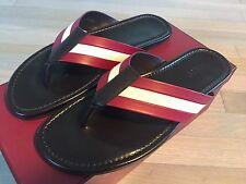 500$ Bally Venzio Brown Leather Sandals size US 12.5 Made in Italy