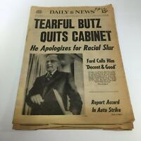 NY Daily News: 10/5/76 Tearful Butz Quits Cabinet Sec. Of Agriculture Earl Butz