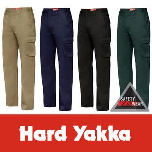 Hard Yakka Generation Y Gen Y Cotton Drill Work Cargo Pants Y02500 Workwear