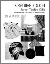 Singer 1036 Creative Touch Instructions User Guide Manual Reprint Copy