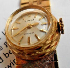 18k Solid Gold Vintage 1960s Lady Rolex Cocktail Watch w/ Original 18k Bracelet
