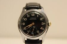 """VINTAGE WW2 MILITARY STYLE SUB SECOND SWISS OR FRANCE MEN'S WATCH """"PRECIA"""" 15J"""