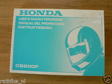 HONDA CB600F INSTRUKTIEBOEK ORIGINAL 1997,USO E MANUTENZIONE,MANUAL DEL PROPIET