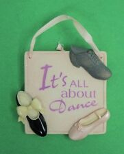 """Ceramic Enesco All About Dance """" Wall Hanging Tap Jazz Ballet"""