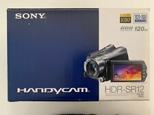 SONY HDR-SR12 FULL HD 120GB HDD Hybrid Digital Video Camera Dock Bag Remoter