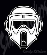 2 STAR WARS SCOUT TROOPER Vinyl Decals Stickers - Many Colors!  storm trooper