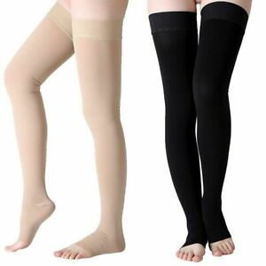 Thigh High Medical Compression Stockings 23-32mmHg Varicose Veins Support Socks
