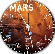 Mars Planet Frameless Borderless Wall Clock Nice For Gifts or Decor F18