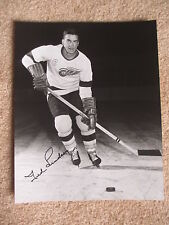 TED LINDSAY DETROIT RED WINGS HOF AUTOGRAPH  8x10 PHOTO #4