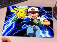 Pikachu Pokemon Ash 90's - Cartoon Anime Rubber antislip PC laptop mouse mat pad