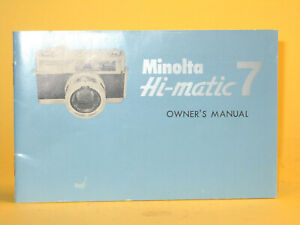 Original(!) Minolta Owner´s Manual for Hi-matic 7 - in English!