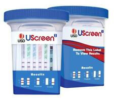 Uscreen 12 Panel Drug Test Cups CLIA WAIVED Test for 12 Drugs 25's Exp 04/19