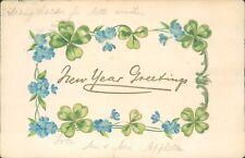 New year greetings floral Tucks 1904