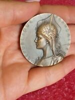 Vintage French Art Nouveau bronze medal by H.Dubois /Shooting contest 45mm