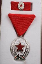 Hungary Hungarian Order of Labor Work SIlver II Box Mini Convex Medal Soviet