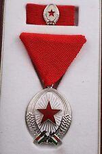 Hungary Hungarian Order of Labor Work SIlver II Box Mini Convex Medal Soviet