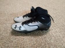 Under Armour Us (Size 12) Compfit Micro Silver & Black Football Cleats