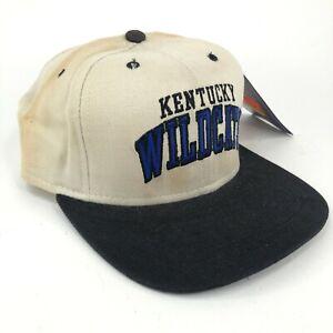 Vintage Kentucky Wildcats New Era Dupont Visor Low Profile Strapback Hat Cream
