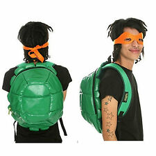 Official Teenage Mutant Ninja Turtles Shell Backpack 4 Face Masks - TMNT School