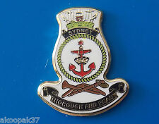 HMAS SYDNEY  FFG03 LAPEL BADGE ENAMEL WITH GOLD PLATING 20MM HIGH ADELAIDE CLASS